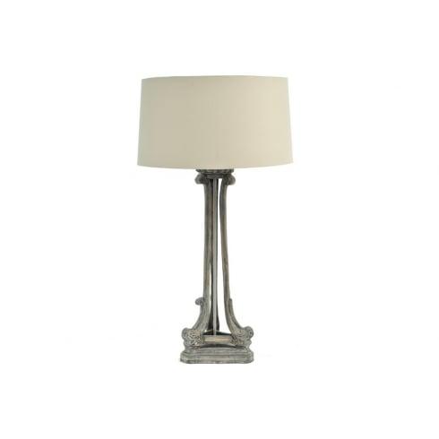 Libra Company Roxborough 337646 Mindi Tri Leg Table Lamp Wooden Lamp Base and Cream Lamp Shade