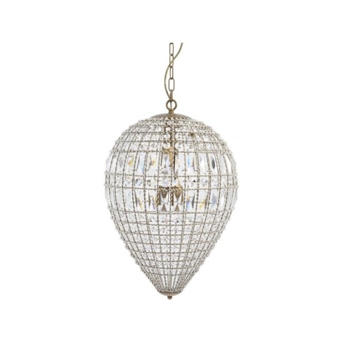 Libra Company Eriska Pear Drop 337923 Medium Crystal Effect Chandelier Ceiling Light