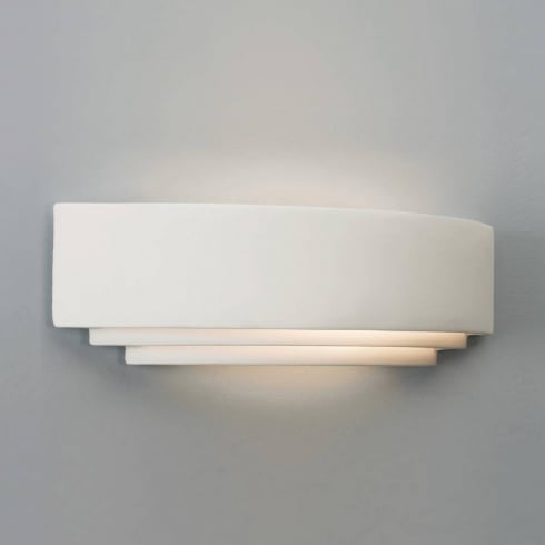 Astro Lighting Amalfi Plus 520 0617 Wide White Plaster Surface Wall Light 32 Watt