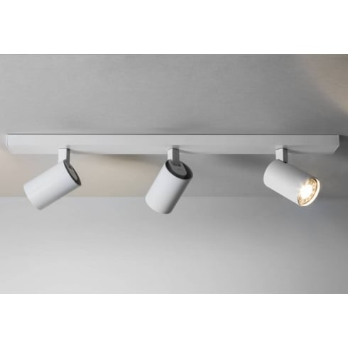 Astro Lighting Ascoli 6144 Modern Triple Spotlight Bar White Ceiling Light