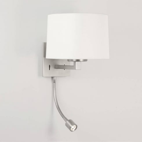 Astro Lighting Azumi 0790 Matt Nickel LED Classic Surface Wall Light with Adjustable Spot Light