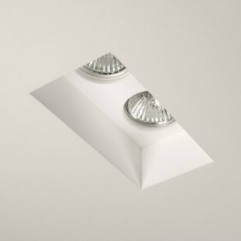 Astro Lighting Blanco 5654 Plaster Finish Twin Interior GU10 Downlight 230V