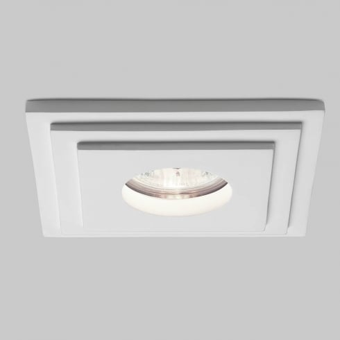 Astro Lighting Brembo 5584 Square White Plaster Bathroom Downlight Low Voltage 12V IP65