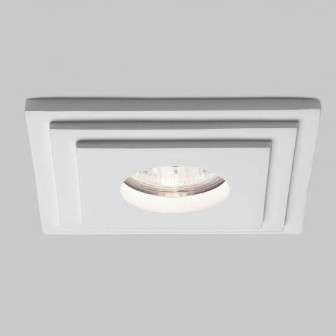 Astro Lighting Brembo 5584 Square White Plaster Bathroom Downlight Low Voltage 12V IP65