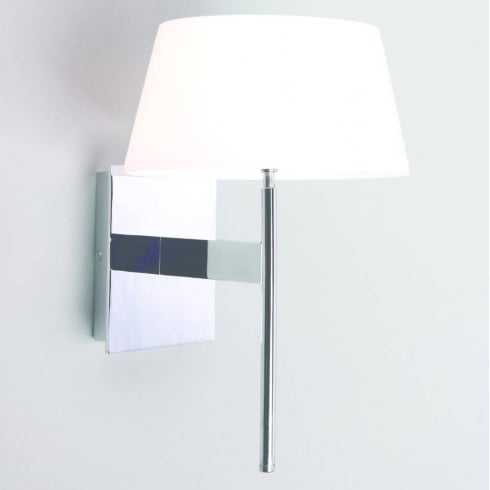 Astro Lighting Carolina 0331 Touch Dimmable Surface Wall Light Chrome with White Opal glass Shade