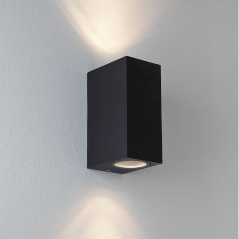 Astro Lighting Chios 150 7128 Exterior Surface Up and Down Wall Light in Black