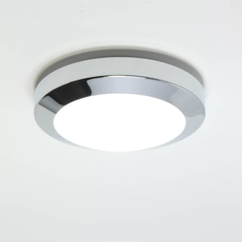 Astro Lighting Dakota Plus 180 0603 Low Energy Flush Ceiling or Wall Light Chrome with Opal Glass