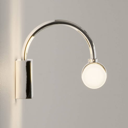 Astro Lighting Dayton 0335 Bathroom Surface Wall Light Polished Chrome with Opal Glass