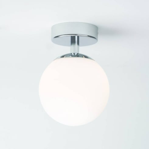 Astro Lighting Denver 0323 Chrome and Opal Glass Globe Ceiling Light