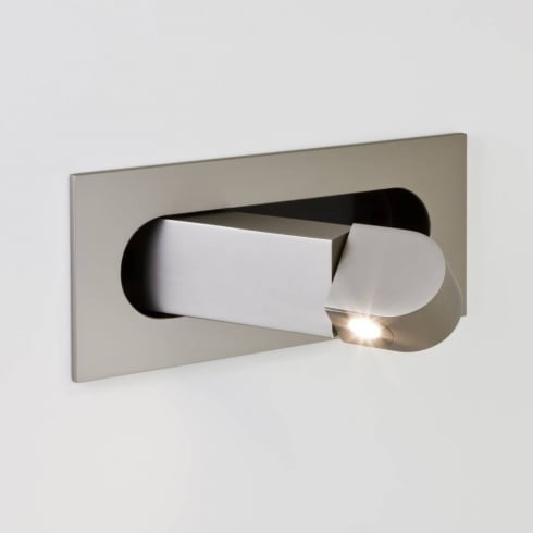 Astro Lighting Digit 7165 Recessed Switched Adjustable LED Wall Spot Light in Matt Nickel