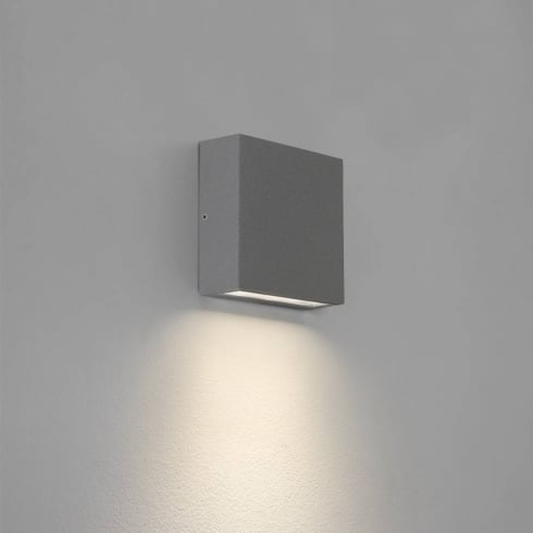 Astro Lighting Elis Single 7203 Square Painted Silver Outdoor Exterior LED Surface Wall Light