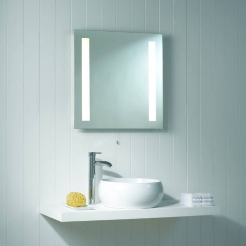 Astro Lighting Galaxy 0440 Mirror finish Square Bathroom illuminated Mirror light