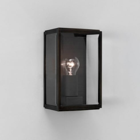 Astro Lighting Homefield Black 0483 Black Clear Glass Outdoor Surface Wall Light IP44