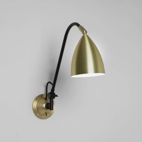 Astro Lighting Joel Grande Wall 7615 Matt Gold Interior Switched Surface Wall Light