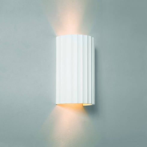 Astro Lighting Kymi 220 7256 Ceramic White Plaster Up and Down Wall Light Paintable