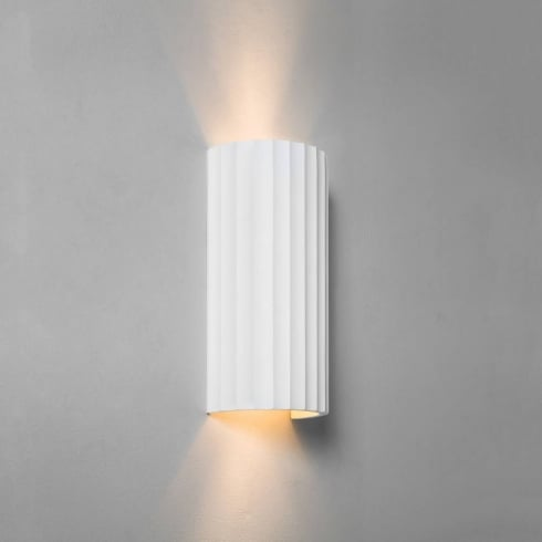 Astro Lighting Kymi 300 7258 Ceramic White Plaster Up and Down Wall Light Paintable