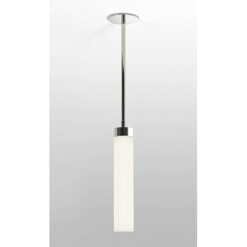 Astro Lighting Kyoto 7031 Modern Ceiling Pendant Light Polished Chrome with Opal glass