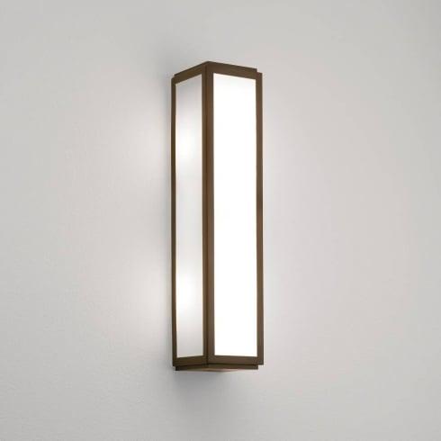 Astro Lighting Mashiko 360 0877 Bathroom Wall Light Bronze with Opal Glass IP44