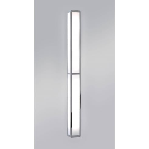 Astro Lighting Mashiko 900 0911 Surface Bathroom Wall Light Large Chrome with Opal Glass IP44