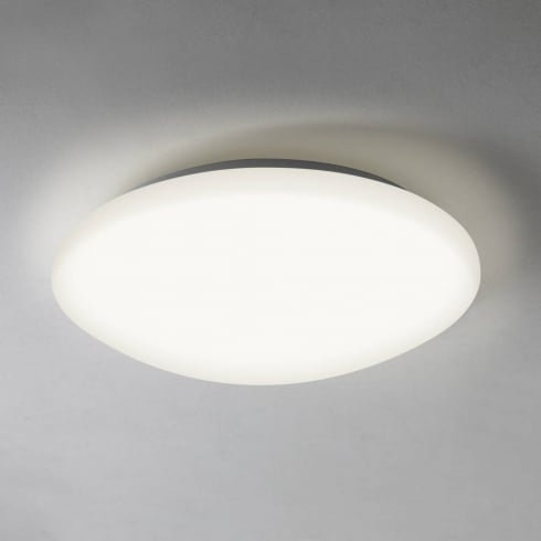 Astro Lighting Massa 300 7263 Round Flush Ceiling Light White Opal IP44