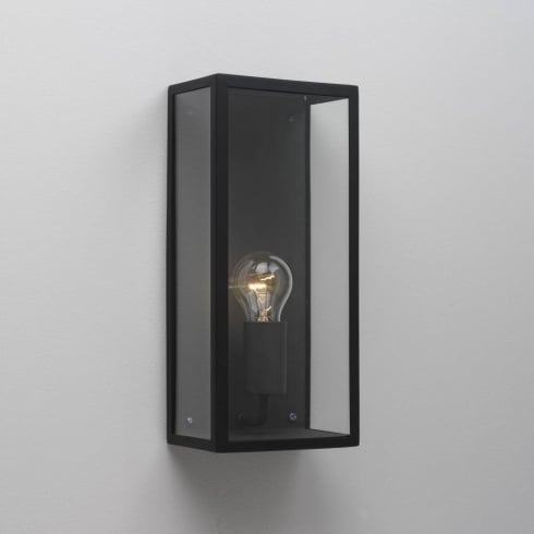 Astro Lighting Messina 0866 Outdoor Surface Wall Light Black with Clear Glass IP44