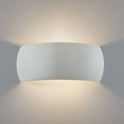 Astro Lighting Milo 7073 White Plaster Surface Wall Light Paintable IP20