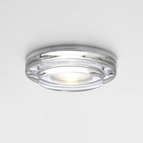 Astro Lighting Mint 12v 5554 Round Glass and Chrome Bathroom Downlight Low Voltage IP65