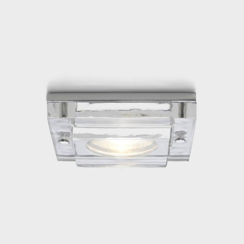 Astro Lighting Mint Fire Resistant 12v 5599 Square Chrome and Glass Shower Downlight Low Voltage IP65