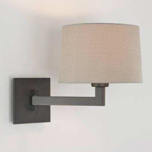 Astro Lighting Momo Single 7016 Bronze Swing Arm Bathroom Wall Light