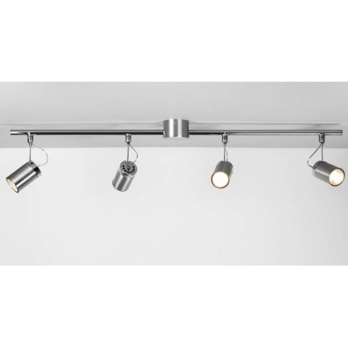 Astro Lighting Montana 6058 Brushed Aluminium Four Spotlight Bar Ceiling Light