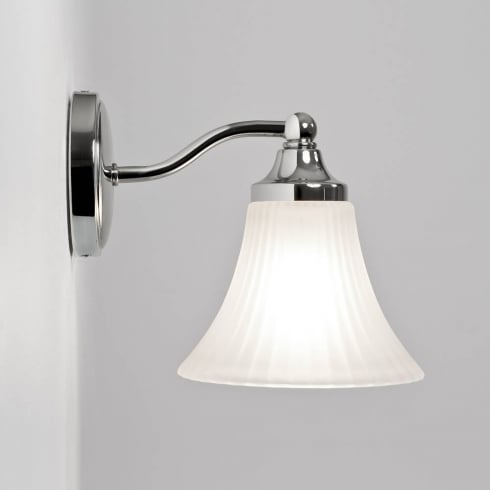 Astro Lighting Nena 0506 Fluted Bathroom Wall Light in Chrome with Opal Glass IP44