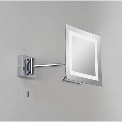 Astro Lighting Niro 0485 Polished Chrome Illuminated Vanity Mirror with Pullcord