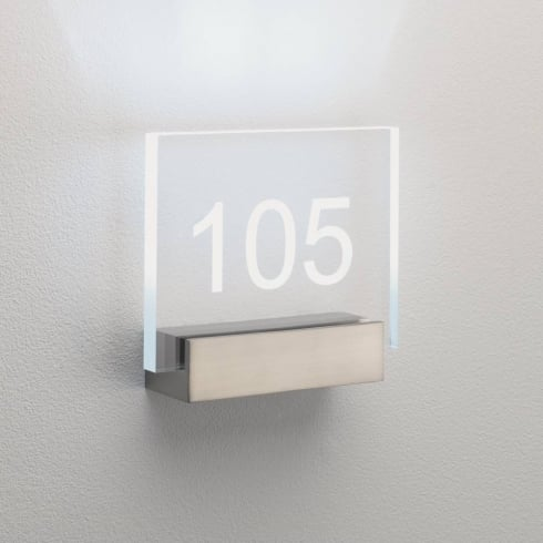 Astro Lighting Numero 0924 Clear acrylic numbered block sign BASE ONLY
