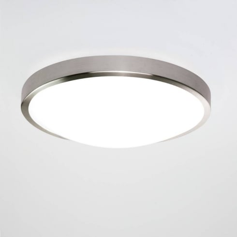 Astro Lighting Osaka 0906 Round Flush Ceiling Light Matt Nickel 28 Watt