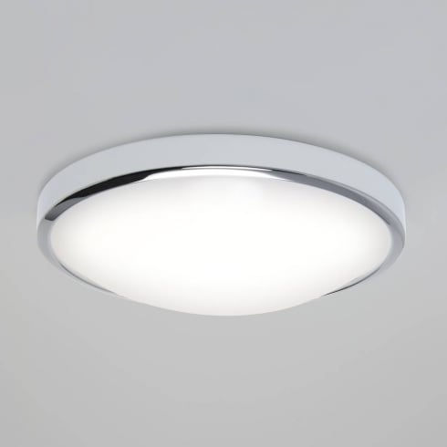 Astro Lighting Osaka Sensor 7411 Polished Chrome Round LED Flush Ceiling Light with PIR