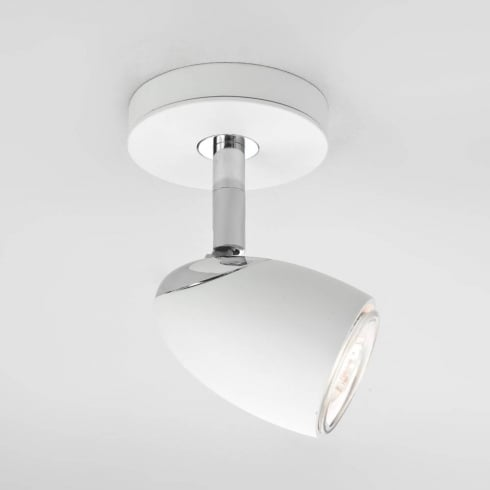 Astro Lighting Ovale 6113 Ceiling Light Single Spotlight in White 50w GU10