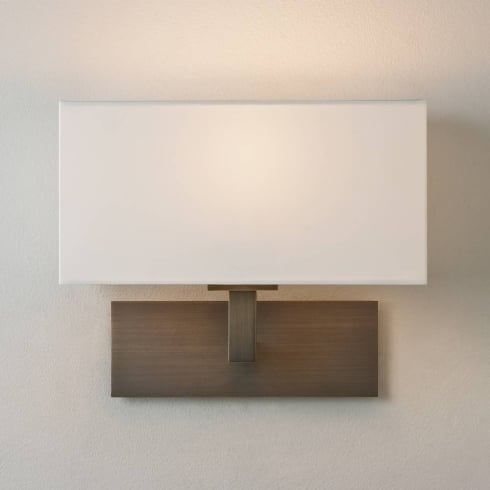 Astro Lighting Park Lane Wall 0424 Bronze Surface Wall Light with White Shade