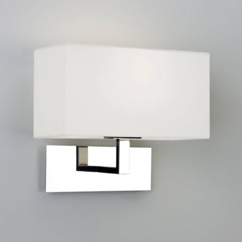 Astro Lighting Park Lane Wall 0865 Polished Chrome Surface Wall Light with White Shade