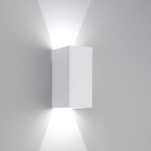 Astro Lighting Parma 160 0886 White Plaster LED Surface Wall Light Up and Down Light