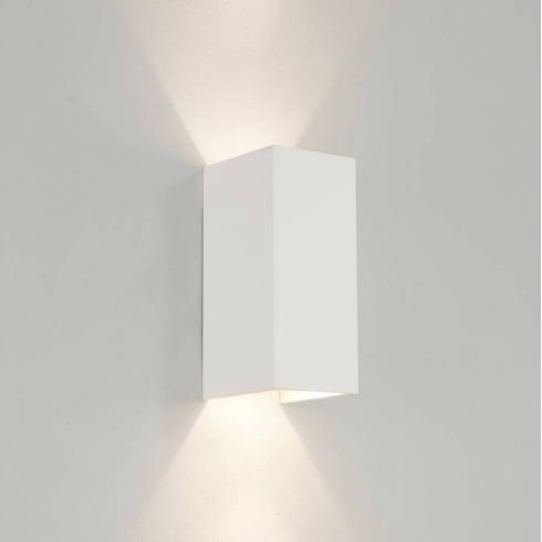 Astro Lighting Parma 210 0964 Plaster Finish Rectangular Surface Wall light