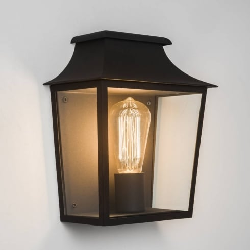 Astro Lighting Richmond 7270 Black Outdoor Lantern Surface Wall Light IP44