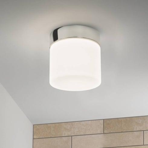 Astro Lighting Sabina 7024 Bathroom Ceiling Light Polished Chrome with Opal Glass IP44
