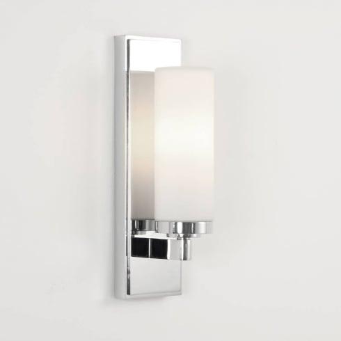 Astro Lighting Savio 0651 Chrome and Opal Glass Bathroom Wall Light