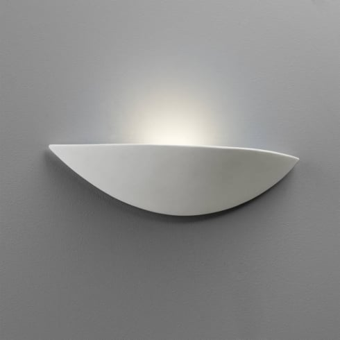 Astro Lighting Slice 0425 White Plaster Ceramic Paintable Uplight Surface Wall Light