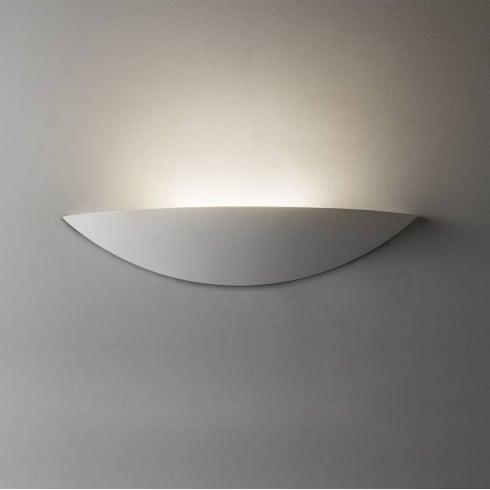 Astro Lighting Slice LED 7399 White Plaster Ceramic Paintable Uplight Surface Wall Light