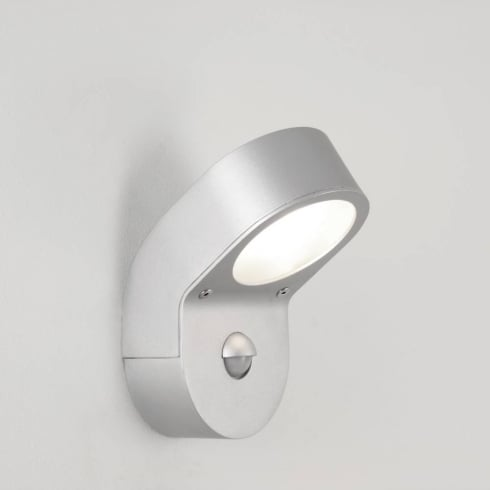 Astro Lighting Soprano PIR 0576 Painted Silver Outdoor Wall Light with Presence Detector