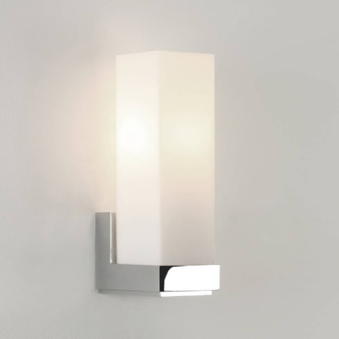 Astro Lighting Taketa 0775 Polished Chrome Opal Bathroom Surface Wall Light 40Watt