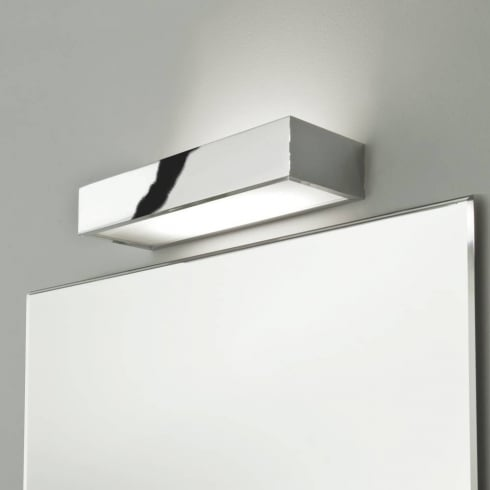 Astro Lighting Tallin 300 0531 Polished Chrome Rectangular Modern Bathroom Wall Light