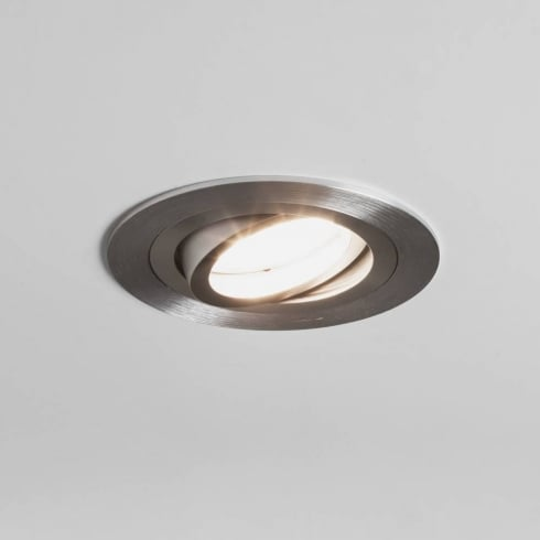 Astro Lighting Taro 12v 5574 Brushed Aluminium Round Adjustable Downlight Low Voltage