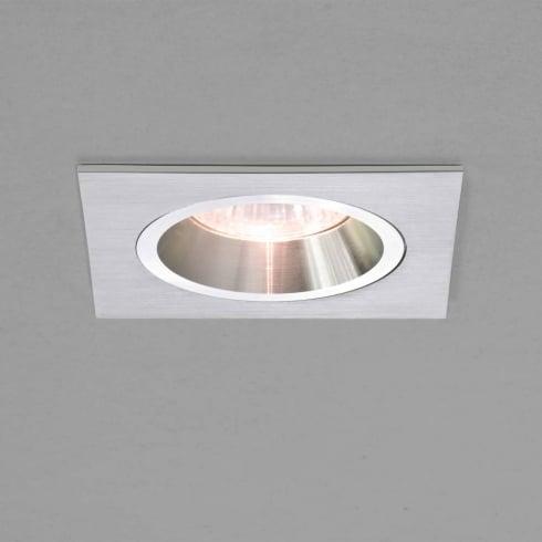 Astro Lighting Taro 12v 5577 Brushed Aluminium Square Fixed Recessed Downlight Low Voltage